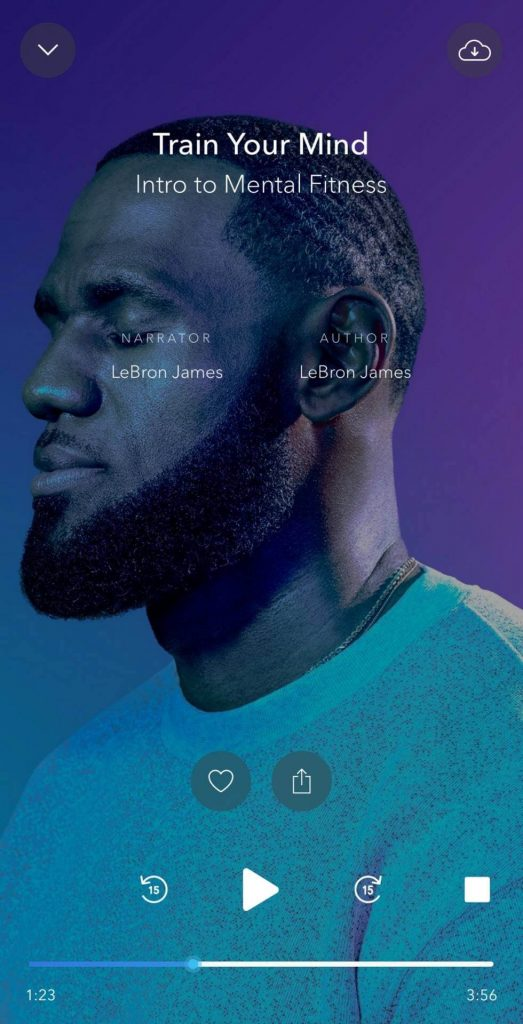 This is a photo of lebron james in the calm app