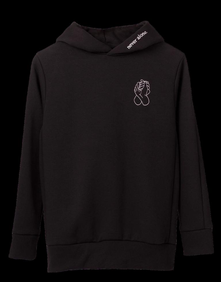NeverAlone Hoodie Black V1