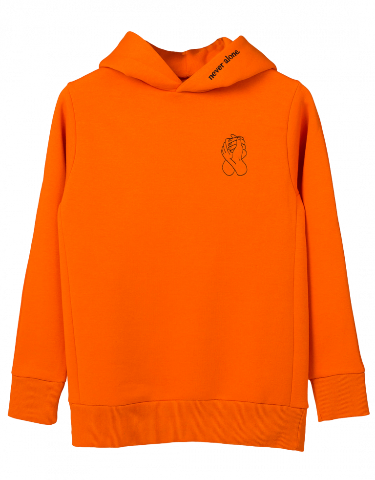 NeverAlone Hoodie Orange V1