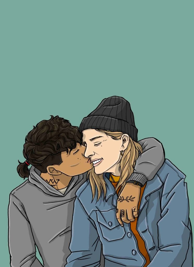 this is a drawing of dating someone with depression