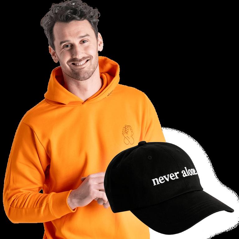 never-alone-combo-paul-orange-hoodie-hat-01